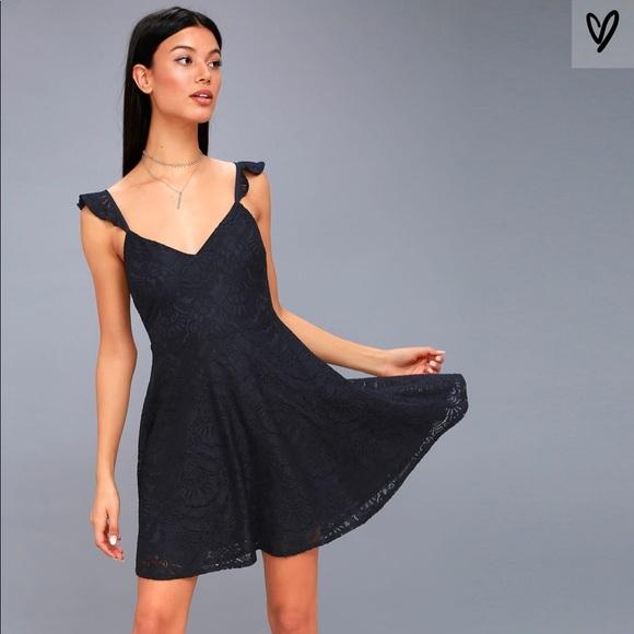 fb98316d63 Tobi Lace Backless Skater Dress. M 5b86bccb800dee437ab67e2d